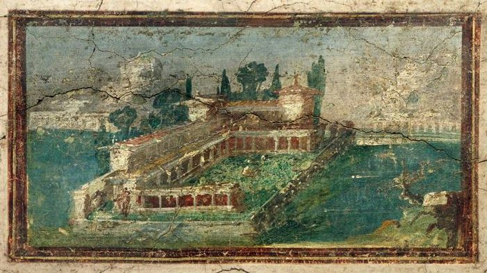 Roman villas for Ancient mural villa